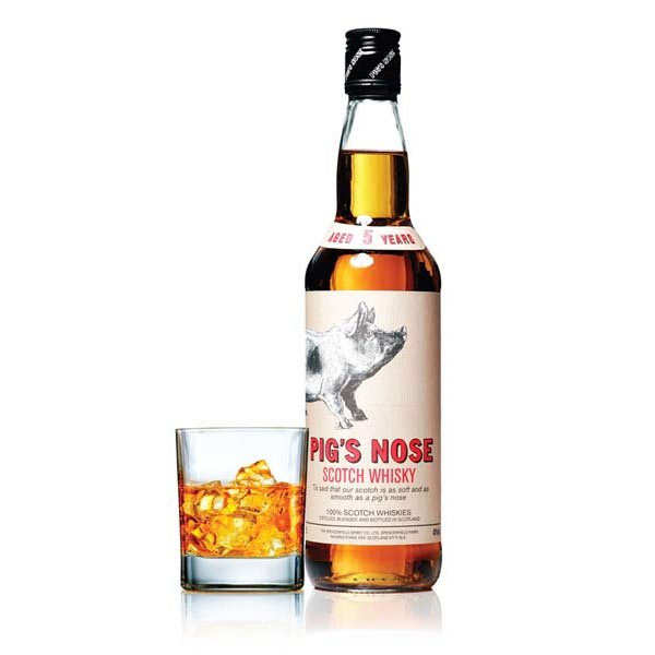 Pig's nose blended whisky - 40%