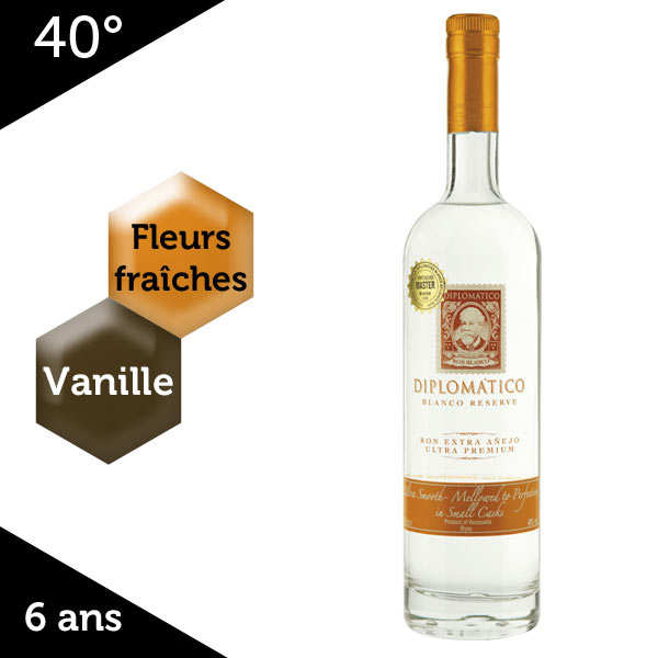 Diplomatico Blanco Reserve Rum - 40%