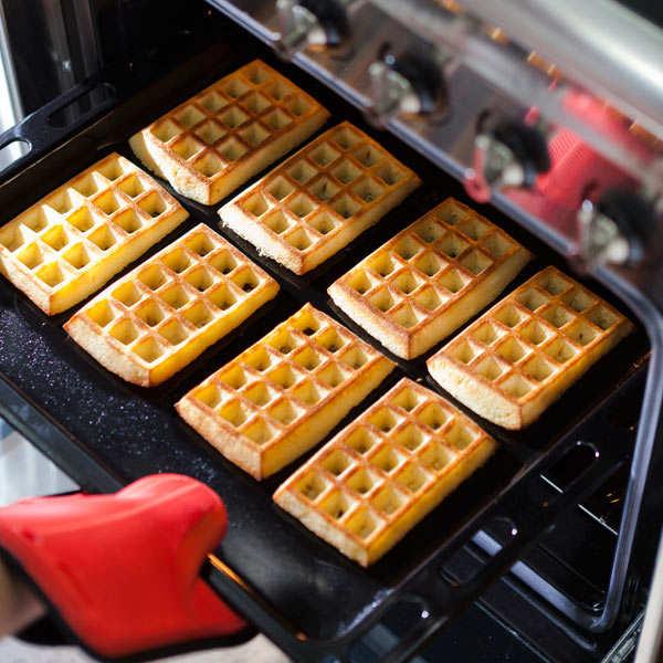 Moules à gaufres en silicone (lot de 2)