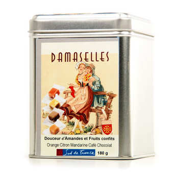 Damaselles - Les Damaselles - Boîte métal - Pâte d'amande et fruits