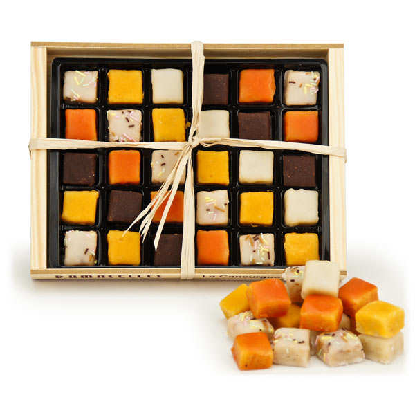 Les Damaselles - Almond & Fruit Sweets - Wood Box