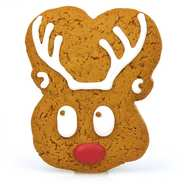 Image on food - Iced gingerbread Mr Reindeer