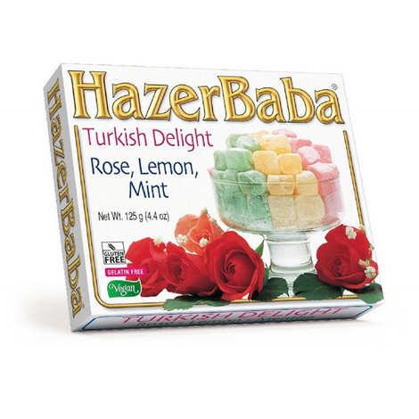 Hazer Baba loukoums - Turkish Delight with Rose, Lemon & Mint