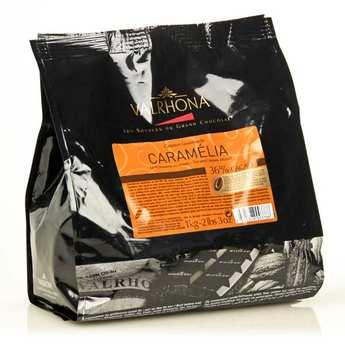 "Valrhona - Chocolat caramel de couverture Valrhona en fèves ""Caramélia"""