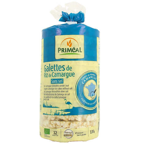 Priméal - Organic Camargue rice cakes - Salt and gluten free