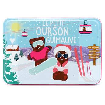 """Tasty France - Le véritable petit ourson guimauve - boîte collector """"L'ourson à la montagne"""""""