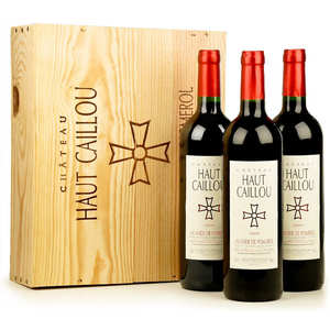 Château Haut Caillou - Château Haut Caillou - wooden box of 3 bottles