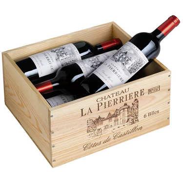Château La Pierrière - Coffret bois 6 bouteilles