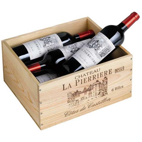 Château La Pierriere - Château La Pierrière - Coffret bois 6 bouteilles