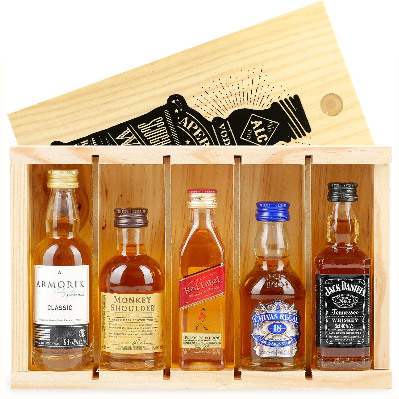Coffret découverte whisky - 5 Mignonnettes