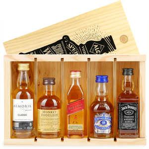 BienManger paniers garnis - Coffret découverte whisky - 5 Mignonnettes