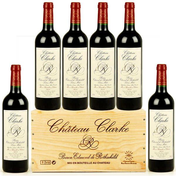 Caisse bois 6 ch teau clarke 2007 edmond de rothschild for Chateau clarke