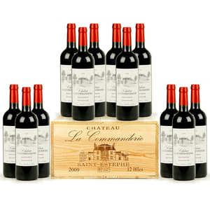 Château La Commanderie - Château la commanderie - Saint-Estèphe - wooden box of 12 bottles