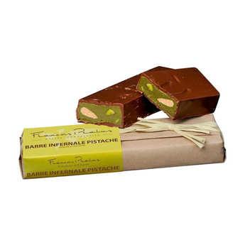 Chocolats François Pralus - Dark Chocolate & Pistachio Bar - Pralus