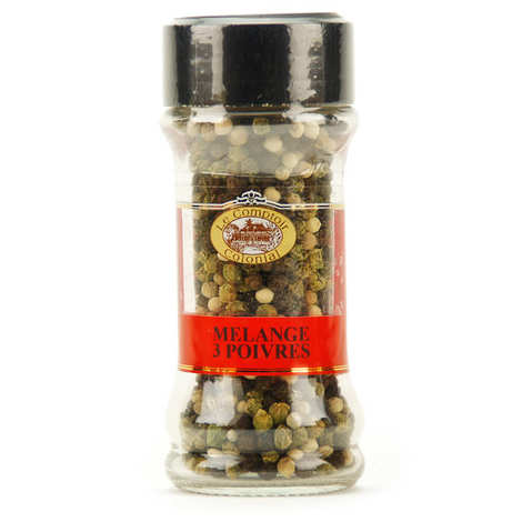 Le Comptoir Colonial - Green, black and white peppercorns mix