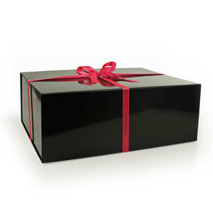 - Grande boite cadeau rectangle aimantée - Noire