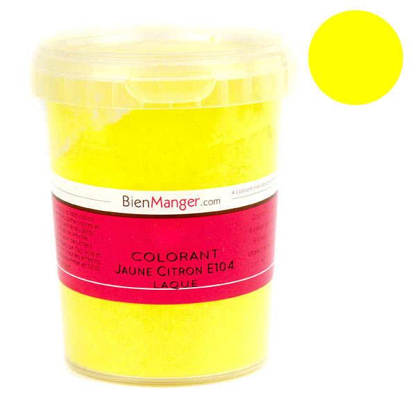 Colorant alimentaire jaune citron E104 - Poudre liposoluble