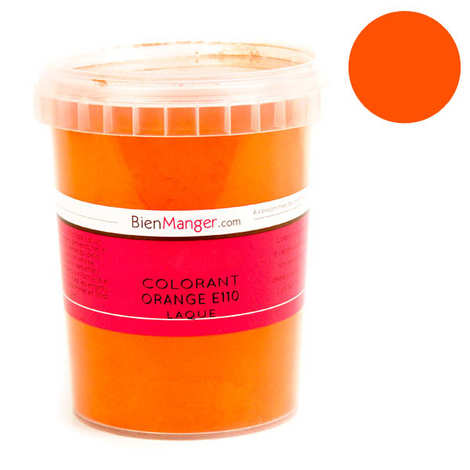 BienManger aromes&colorants - Colorant alimentaire orange E110 - Poudre liposoluble