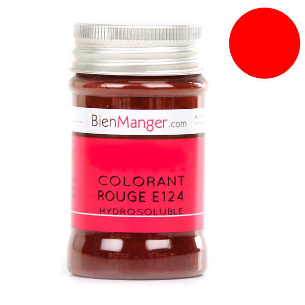 colorant alimentaire rouge e124 poudre hydrosoluble - Colorant E120