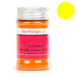 BienManger aromes&colorants - Colorant alimentaire jaune citron E102 - Poudre hydrosoluble