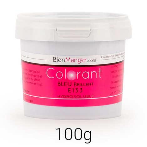 BienManger aromes&colorants - Colorant alimentaire bleu brillant E133 - Poudre hydrosoluble