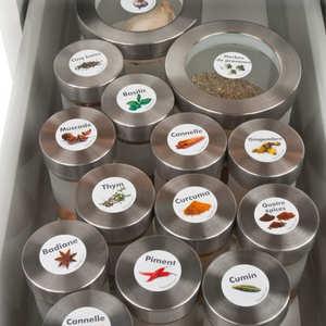 - Stickers pour pots d'épices