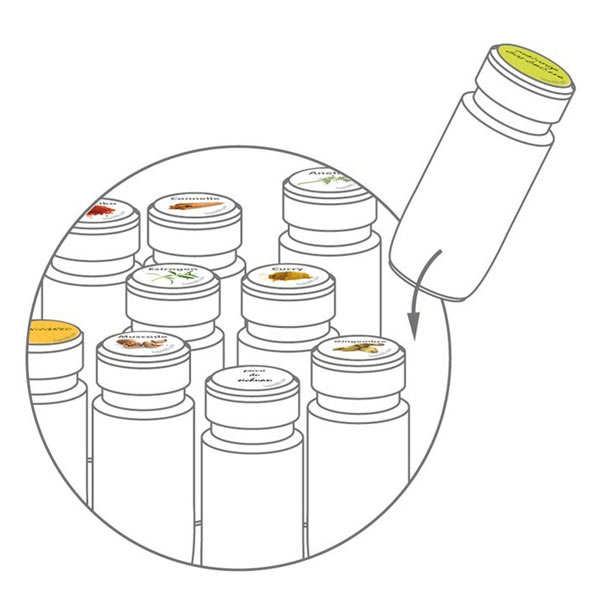 Stickers for spice pots - in French