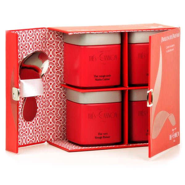 Coffret de 4 thés parfumés - Pavillon des parfums