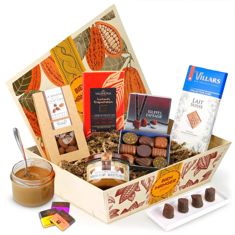 Panier cadeau Le 100% Chocolat