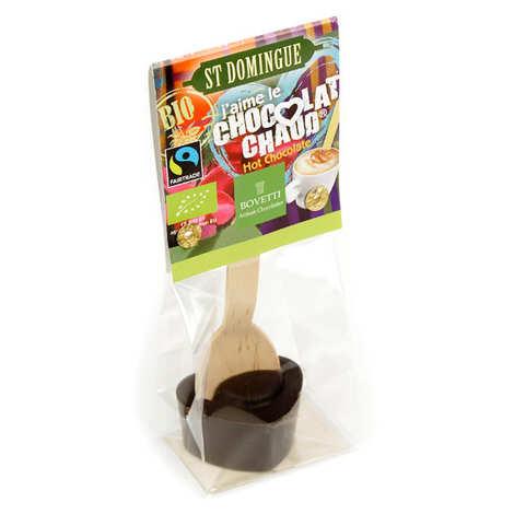 Bovetti chocolats - Bâtonnet pour boisson chocolatée - Chocolat noir St Domingue Bio