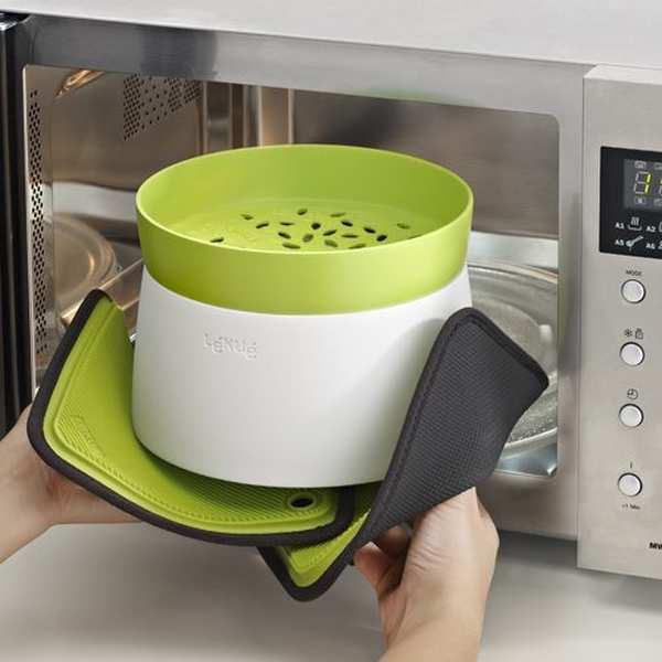Rice grain cooker cuiseur riz et c r ales au micro for Cuisson vapeur au micro onde