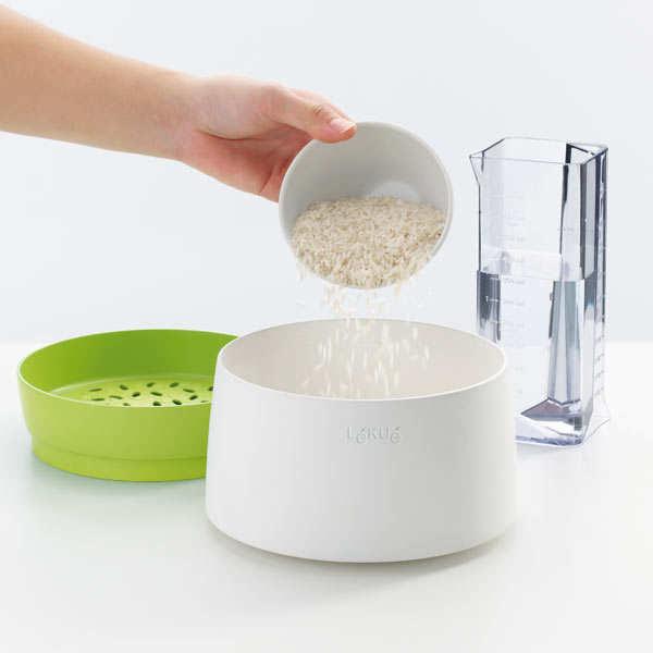 rice grain cooker cuiseur riz et c r ales au micro. Black Bedroom Furniture Sets. Home Design Ideas