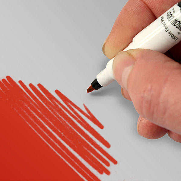 Red writing pen for food decoration