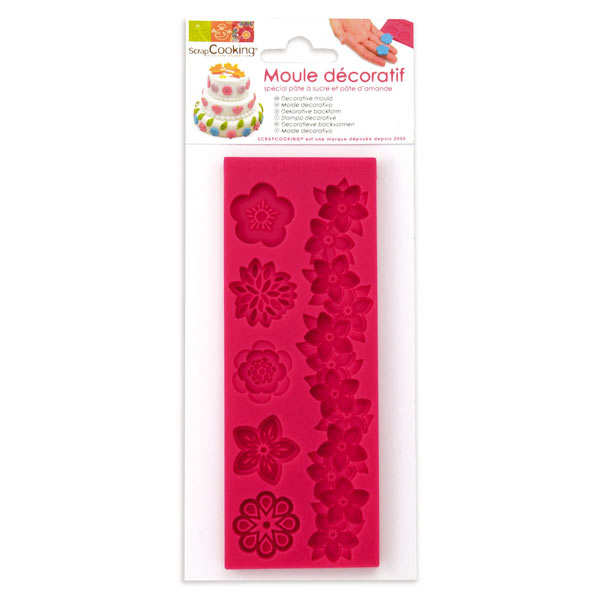Flower mould for icing decorations
