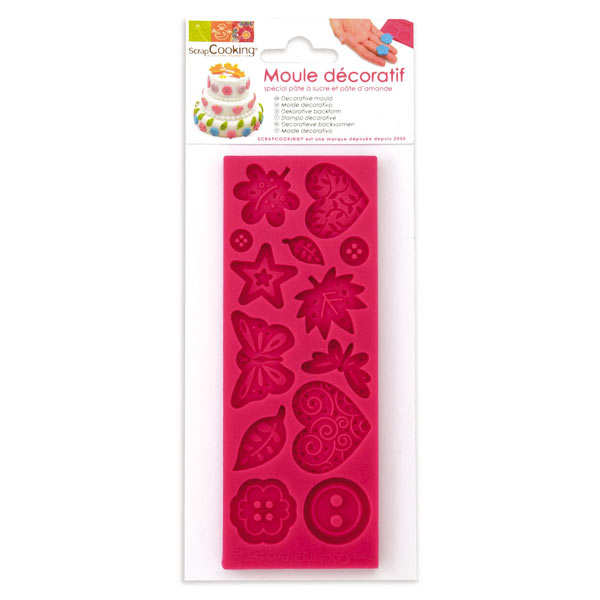Funky shapes mould for icing decorations