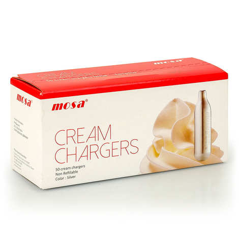 Mosa - 50 chargers for whipped cream and mousse dispensers (8g N2O)