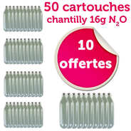 Mosa - 40 Chargers for whipped cream + 10 free of charge (16g N2O)