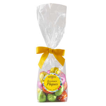 Monbana Chocolatier - Easter Egg Mix in Dark, White and Milk Chocolate Filled with Praliné