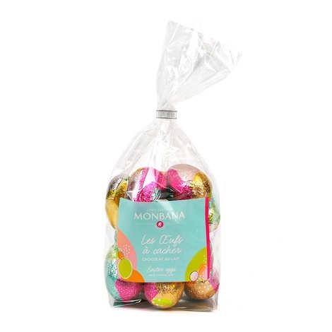 Monbana Chocolatier - Sachet de 16 oeufs à cacher au chocolat au lait