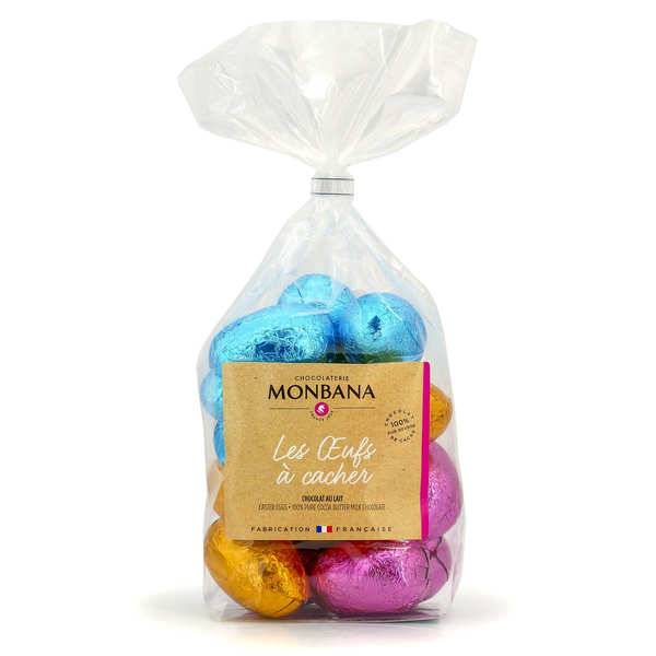 21 Easter eggs in milk chocolate