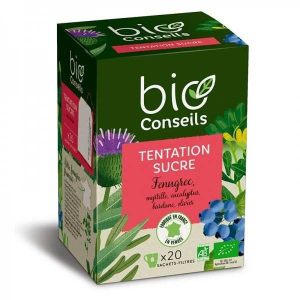 Infusion tentation sucre bio - boîte 20 sachets
