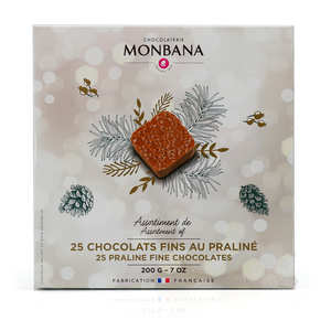 Monbana Chocolatier - Assortment of 25 Fine Flavoured Chocolates