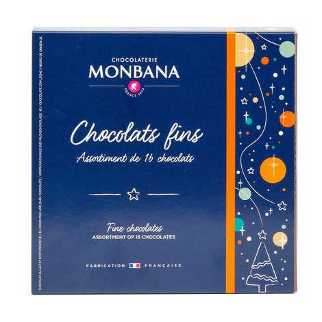 Monbana Chocolatier - Assortiment de 25 chocolats fins au praliné