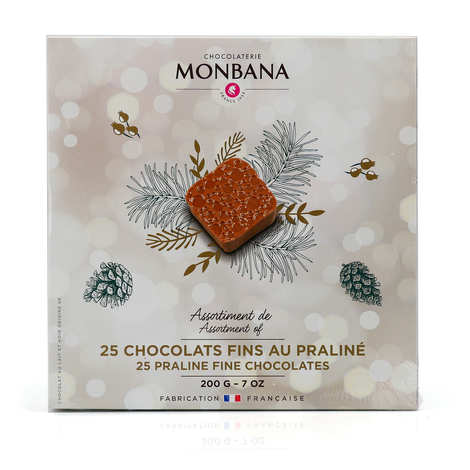 Monbana Chocolatier - Assortment of 25 Fine Flavoured Chocolates