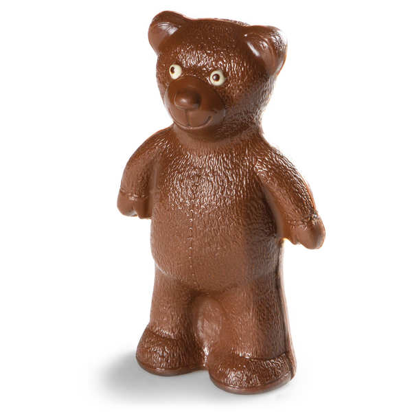 Cute easter bear in milk chocolate
