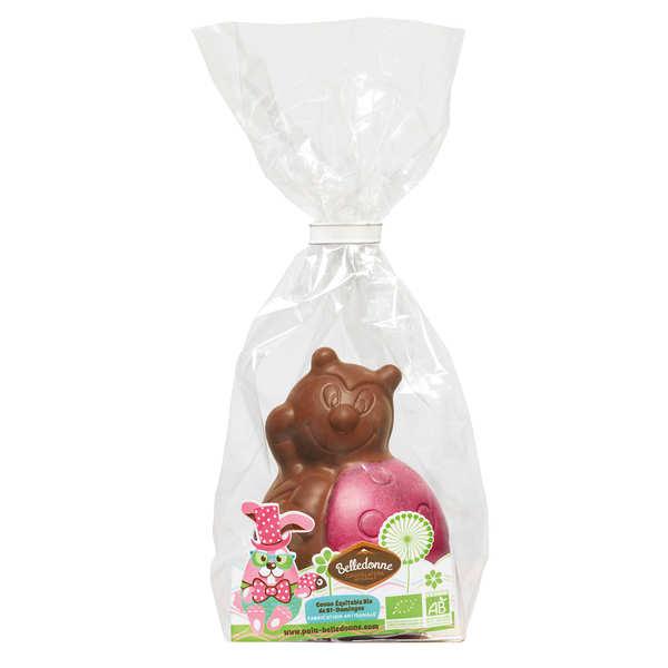Coccinelle en chocolat au lait bio