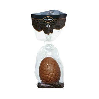 Belledonne Chocolatier - Oeuf à cacher bio au chocolat lait ou noir