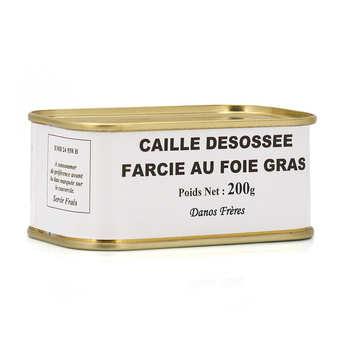 Danos Frères - Quail stuffed with Foie Gras - 200g