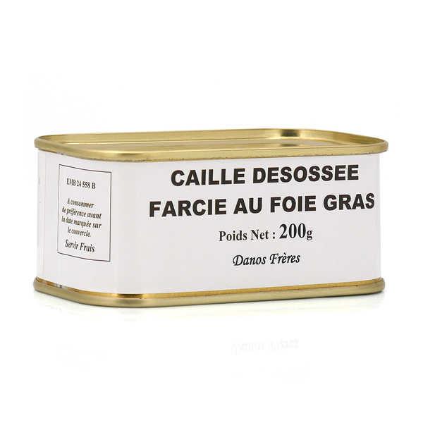 Caille désossée farcie au foie gras de canard