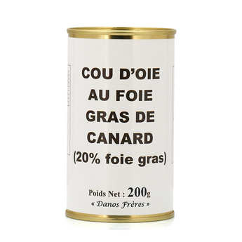 Danos Frères - Cou d'oie farci au foie gras de canard